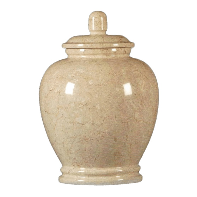 Seashell Classic Marble Cremation Urn