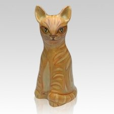 Sitting Cat Ceramic Cremation Urn