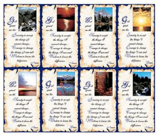 Serenity Prayer Cards