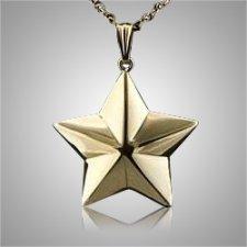 Shaped 5 Point Star Keepsake Pendant
