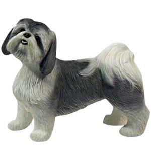 Gray & White Shih Tzu Dog Cremation Urn