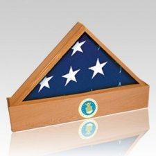 Jefferson Air Force Oak Flag Case & Urn