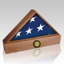 Lincoln Army Walnut Flag Case & Urn