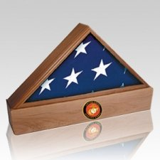 Lincoln Marine Walnut Flag Case & Urn