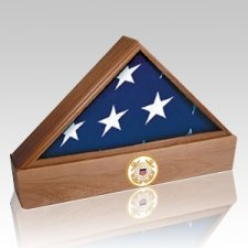 Lincoln Navy Walnut Flag Case & Urn
