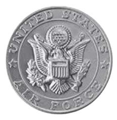 Air Force Silver Medallion Appliques