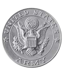 Army Silver Medallion Appliques