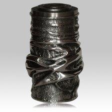 Modern Silver Funeral Urn