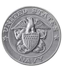 Navy Silver Medallion Appliques
