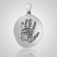 Regular Casing Hand Print Sterling Silver Keepsakes