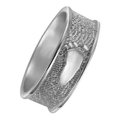 Heirloom Ring Foot Print Sterling Silver Keepsakes