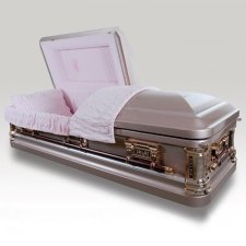 Silver Rose Metal Caskets