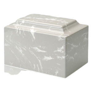 Silver Gray Marble Individual Urn