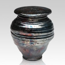 Raku Night Cremation Urn