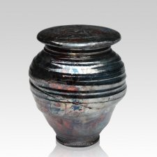 Raku Night Medium Cremation Urn