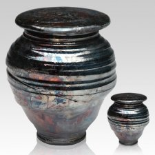 Raku Night Ceramic Cremation Urns