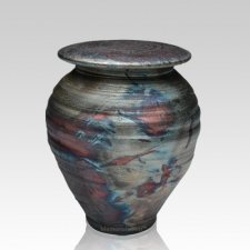 Raku Dream Medium Cremation Urn