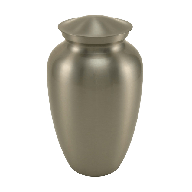 Simplicity Pewter Cremation Urn
