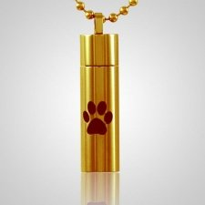 Single Paw Cylinder Cremation Jewelry II