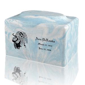 Blue Skies Marble Cremation Urn