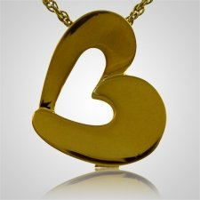Open Slider Heart Keepsake Pendant IV