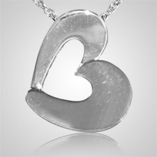 Open Slider Heart Keepsake Pendant