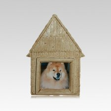 Small Dog House Ceramic Urn