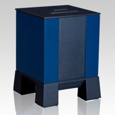 Blue & Black Children Cremation Urn