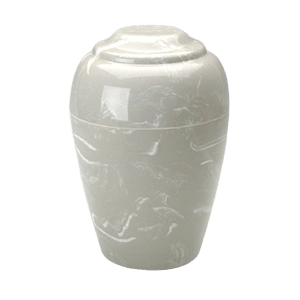 Grecian Silver Gray Marble Cremation Urn