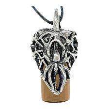 Spider Brown Cremation Necklace Urn