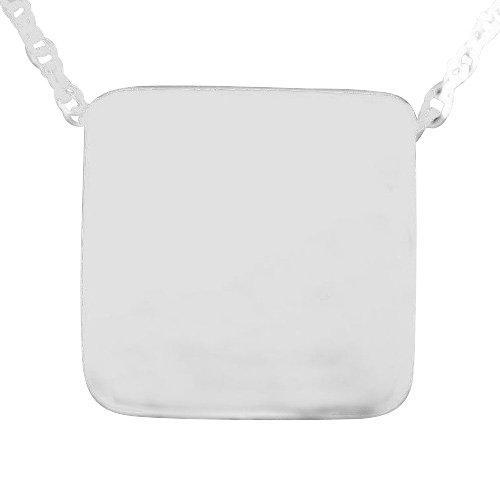 Square Slider Cremation Pendant