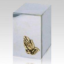 Praying Hands Steel Cremation Urn