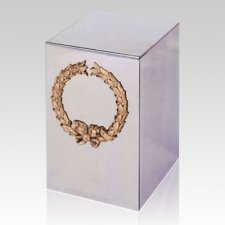 Wreath Steel Cremation Urn