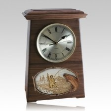 Streamfishing Astoria Clock Walnut Cremation Urn