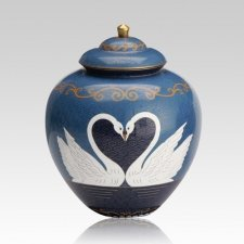 Graceful Swans Cremation Urn For Two