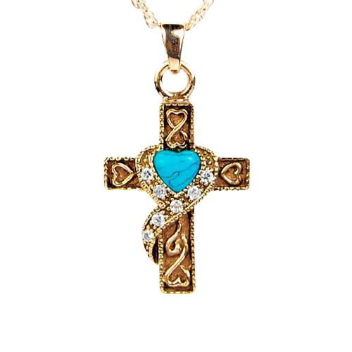 Swirl Blue Cross Keepsake Jewelry II