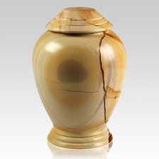 Teakwood Classica Marble Cremation Urn