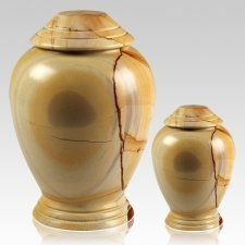 Teakwood Classica Marble Cremation Urns
