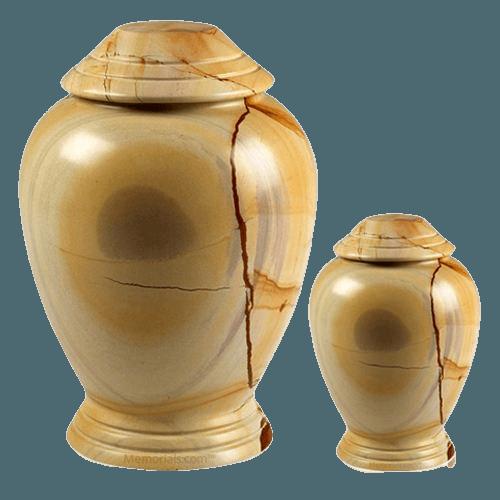 Teakwood Classica Marble Cremation Urns