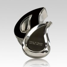 Teardrop Silver Box Cremation Urn