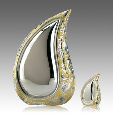 Teardrop Gold Cremation Urns