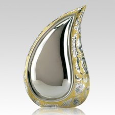 Teardrop Gold Cremation Urn