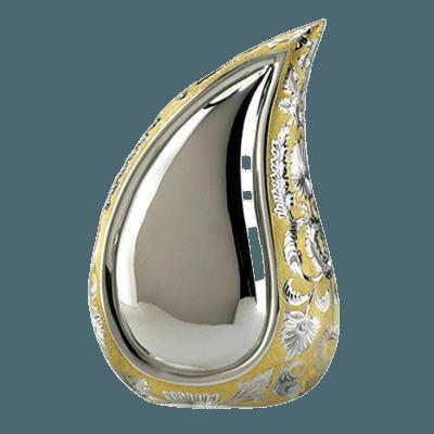 Teardrop Gold Cremation Urn