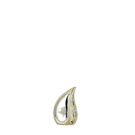 Teardrop Gold Mini Cremation Urn