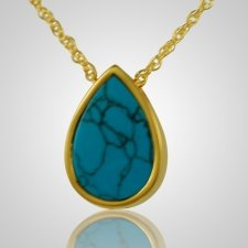 Turquoise Tear Drop Keepsake Pendant IV