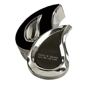 Teardrop Silver Keepsake Cremation Urn