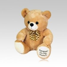 Cream Teddy Bear Urn