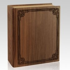 Book Walnut Cremation Urn