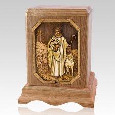 Lord is my Shepherd Oak Companion Urn