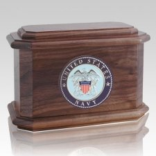 Patriot Navy Walnut Wood Urn